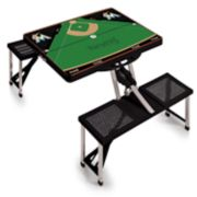 Picnic Time Miami Marlins  Portable Picnic Table with Field Design