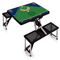 Picnic Time Minnesota Twins  Portable Picnic Table with Field Design