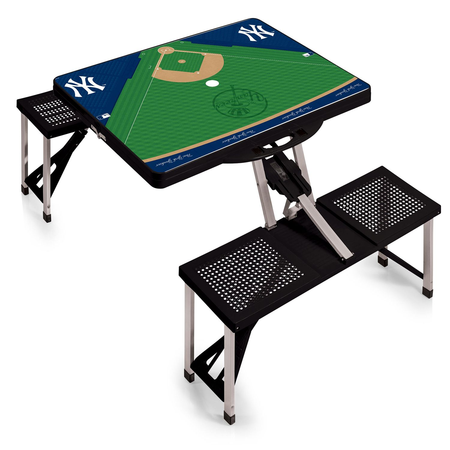 Picnic Time New York Yankees Portable Picnic Table With Field Design