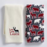 Mainstreet Live, Love, Lodge Kitchen Towel 2-pack