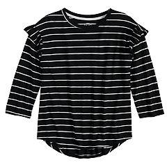 Girls 7-16 SO® Ruffle Sleeve Top