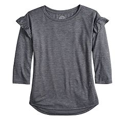 Girls 7-16 SO® Ruffle Sleeve Top