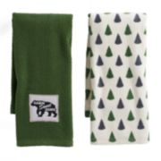 Mainstreet Cabin Green Kitchen Towel 2-pack