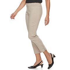 Women's Dana Buchman Lace-Up Pull On Ankle Pants
