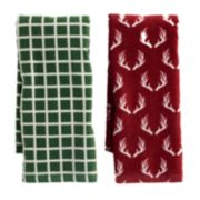 Mainstreet Red Antler Kitchen Towel 2-pack