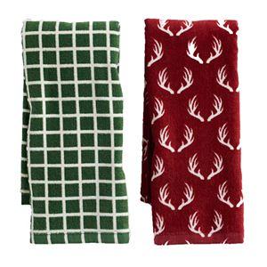 Mainstreet Red Antler Kitchen Towel 2-pack