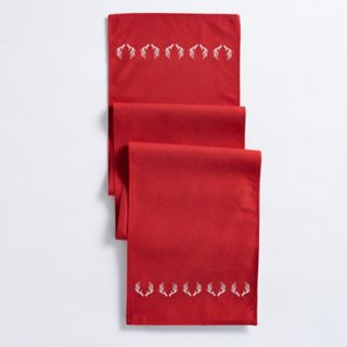 Mainstreet Red Antler Table Runner - 72""