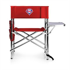Picnic Time Philadelphia Phillies Sports Side Table Chair