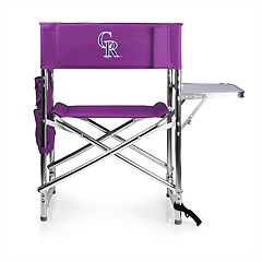 Picnic Time Colorado Rockies Sports Side Table Chair