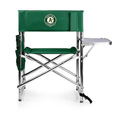 Picnic Time Oakland Athletics Sports Side Table Chair