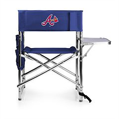 Picnic Time Atlanta Braves Sports Side Table Chair