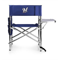 Picnic Time Milwaukee Brewers Sports Side Table Chair