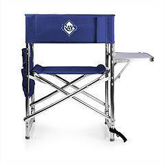 Picnic Time Tampa Bay Rays Sports Side Table Chair