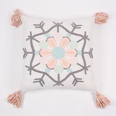 LC Lauren Conrad Snowflake Pom-Pom Throw Pillow