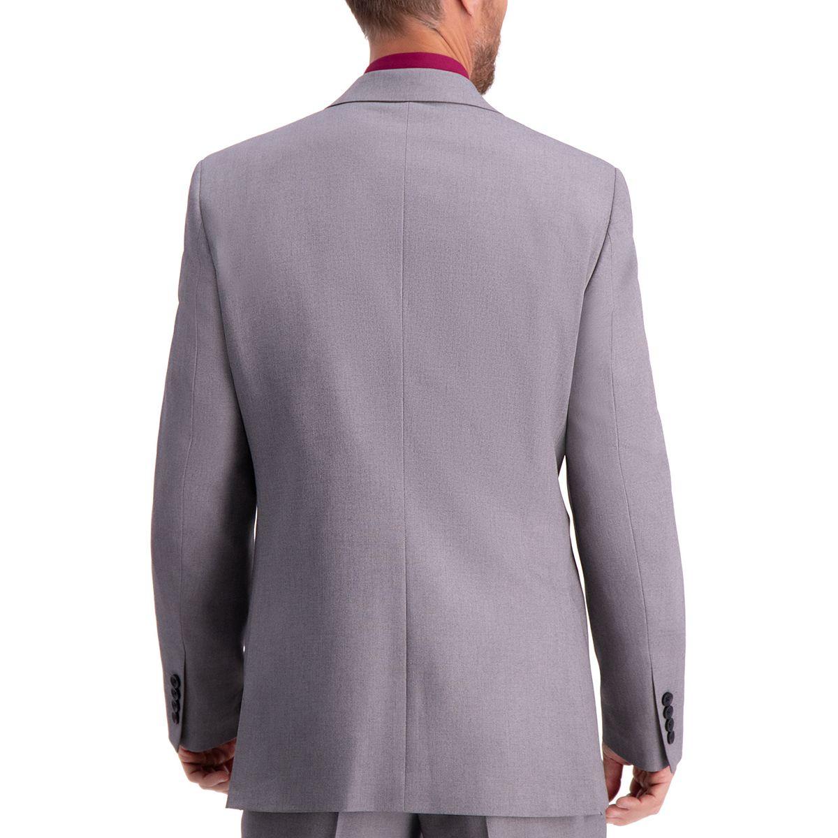 Men's Haggar® Travel Performance Tailored Fit Stretch Suit Jacket Dark Gray Heather Sjnsm