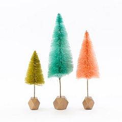 LC Lauren Conrad Colorful Tree Christmas Table Decor 3-piece Set