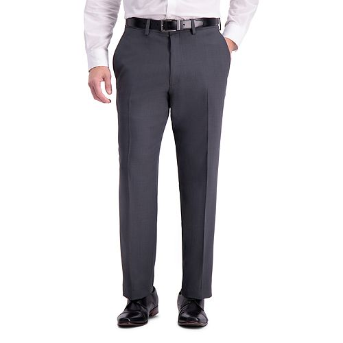 Men's Haggar Travel Performance Tailored Fit Stretch Flat-Front Suit Pants