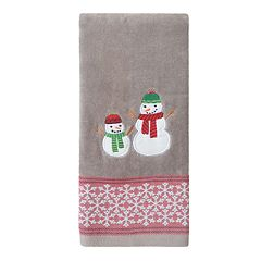 St. Nicholas Square® Holiday Cheer Snowman Dobby Hand Towel