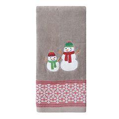 St. Nicholas Square® Holiday Cheer Snowman Dobby Hand Towel