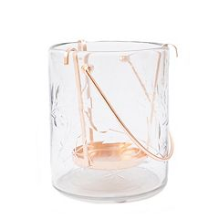 LC Lauren Conrad Large Glass Candle Holder