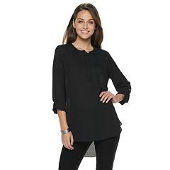 Women's Apt. 9® Shirred High-Low Hem Tunic
