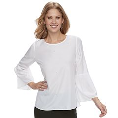 Women's Apt. 9® Poplin Bell-Sleeve Top