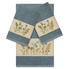 Linum Home Textiles 3-piece Serenity Embellished Bath Towel Set