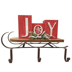 St. Nicholas Square® 'Joy' 3-Hook Christmas Stocking Holder