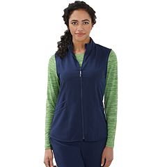 Plus Size Jockey Scrubs Sporty Zip Vest