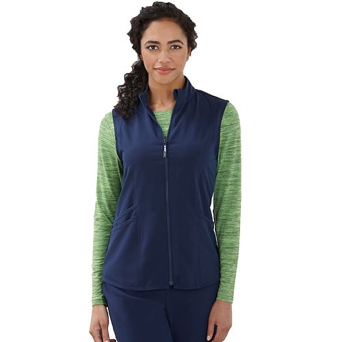 2dce21b9718 Plus Size Jockey Scrubs Sporty Zip Vest