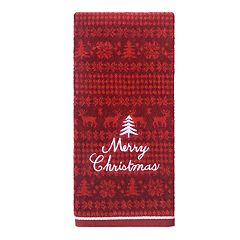 St. Nicholas Square® Through The Woods Merry Christmas Hand Towel