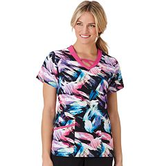 Plus Size Jockey Scrubs Printed Top