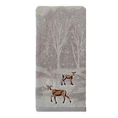 St. Nicholas Square® Through The Woods Scenic Deer Hand Towel