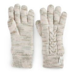 Women's Heat Holders Cable Knit Gloves