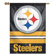 Pittsburgh Steelers Double-Sided Vertical Banner Flag