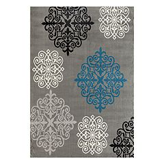 World Rug Gallery Newport Geometric Damask Area Rug