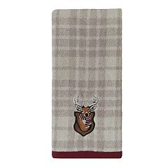 St. Nicholas Square® Through The Woods Plaid Deer Hand Towel