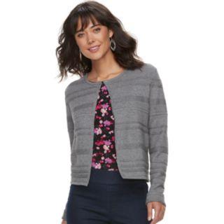 Women's ELLE? Mixed-Stitch Flyaway Cardigan