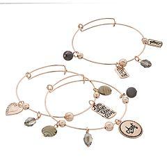 'Aunt' Charm Bangle Bracelet Set