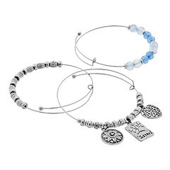 'Sisters' Beaded Bangle Bracelet Set