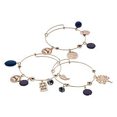 Family Tree Bangle Bracelet Set