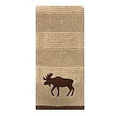 St. Nicholas Square® Through The Woods Textured Moose Hand Towel