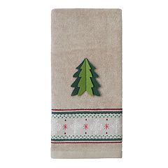 St. Nicholas Square® Through The Woods Tree Dobby Hand Towel