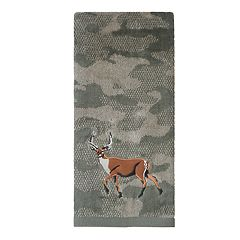 St. Nicholas Square® Through The Woods Camo Deer Hand Towel
