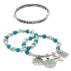 'Live Your Dream' Stretch Bracelet Set