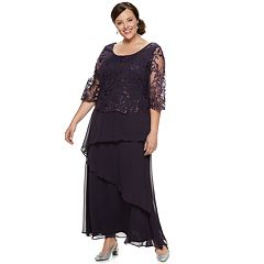 Plus Size Le Bos Lace Embroidered Long Dress