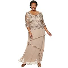 5a51417ddf93 Plus Size Le Bos Lace Embroidered Long Dress