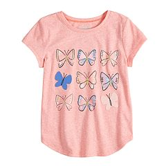 Girls 4-10 Jumping Beans® Snow Nep Glitter Graphic Tee