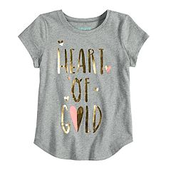 Girls 4-10 Jumping Beans® 'Heart Of Gold' Graphic Tee