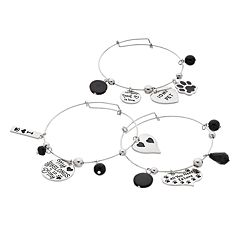 Pet Mom Bangle Bracelet Set